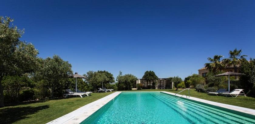 Beautiful hotel pool area