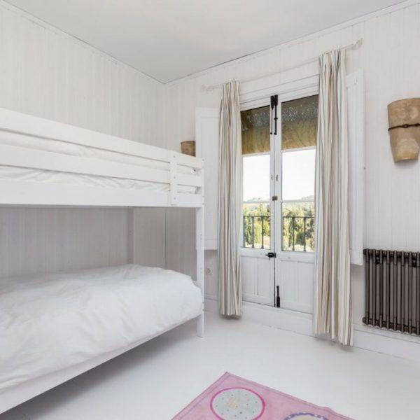 Bunk bedroom in the villa