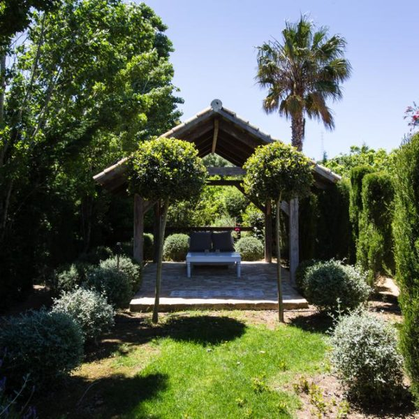 Shaded relaxing area in spain