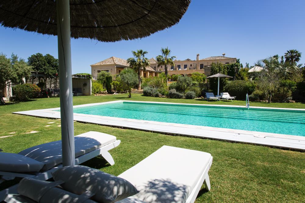 beautiful pool area in hotel