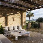 Relaxing courtyard area