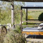 Daybeds overlook beautiful Cadiz countryside