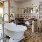 Stylish luxury suite bathroom