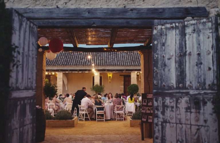 Wedding Dinner in the Courtyard