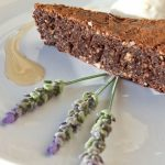 Chocolate cake with lavender