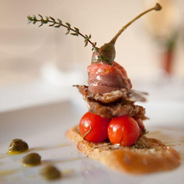 Healthy fish and tomato dish