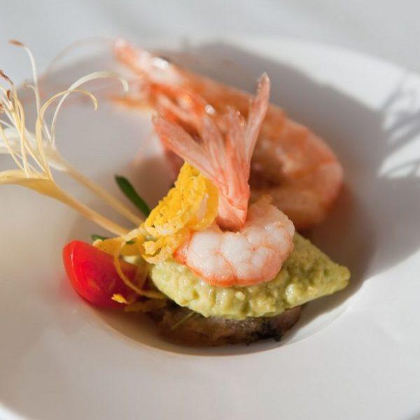 Healthy prawn dish