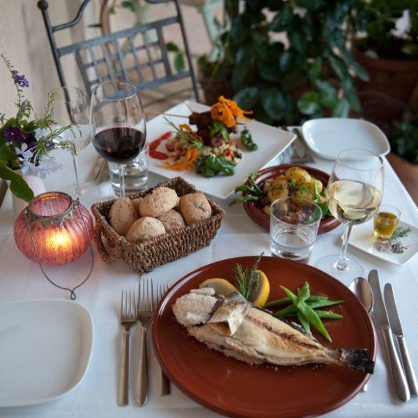 Healthy spanish food on table