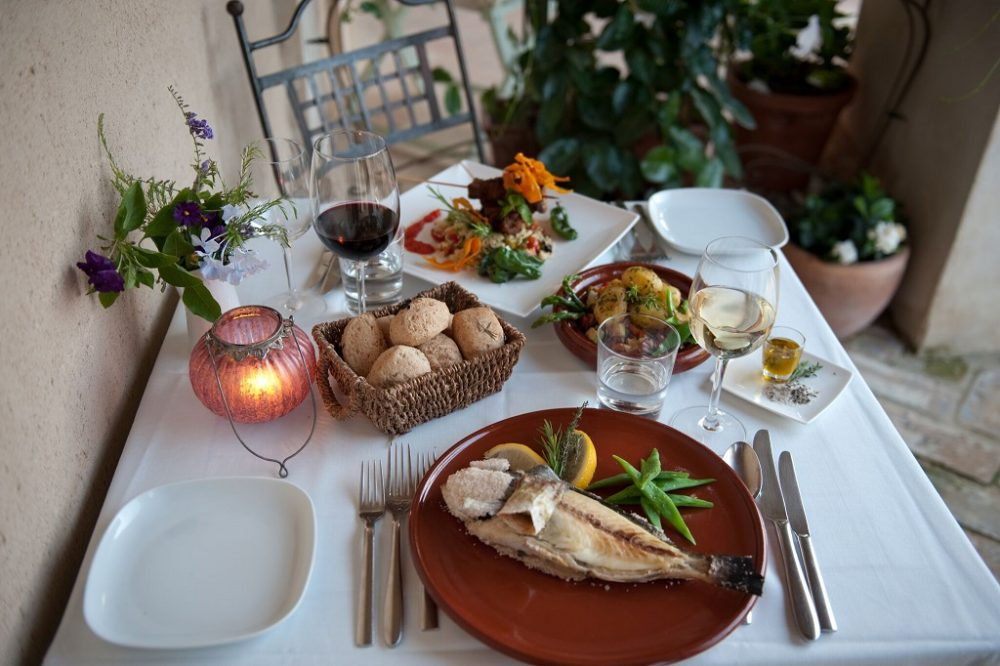 Healthy spanish food on table