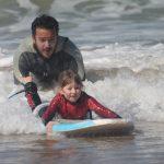 Children surfing at Casa la Siesta