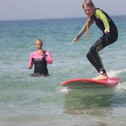 Surf lessons during family weeks