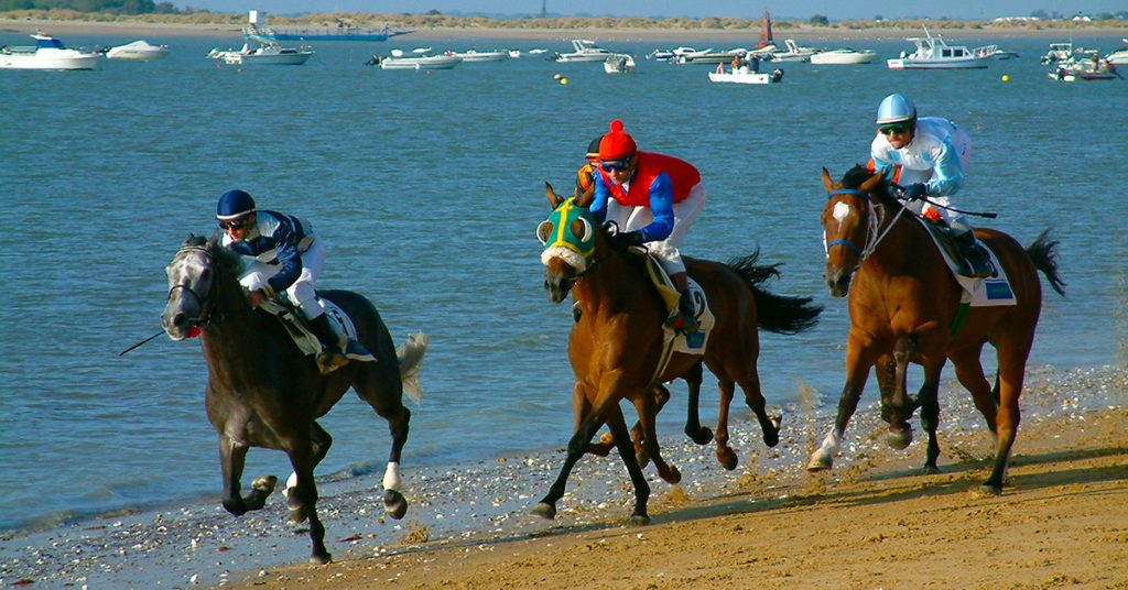 horse racing on sanlucar beach cadiz