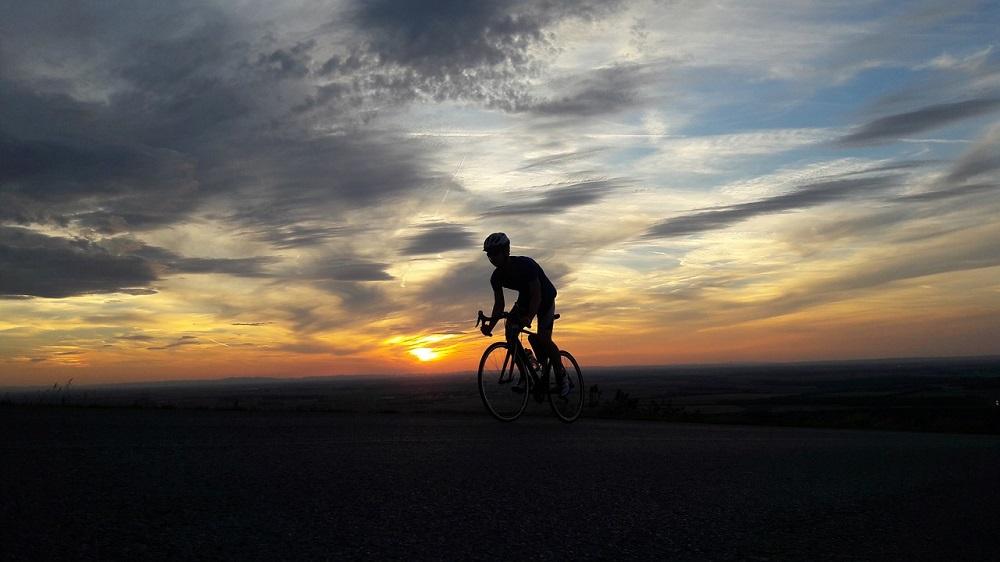 Sunset road biking