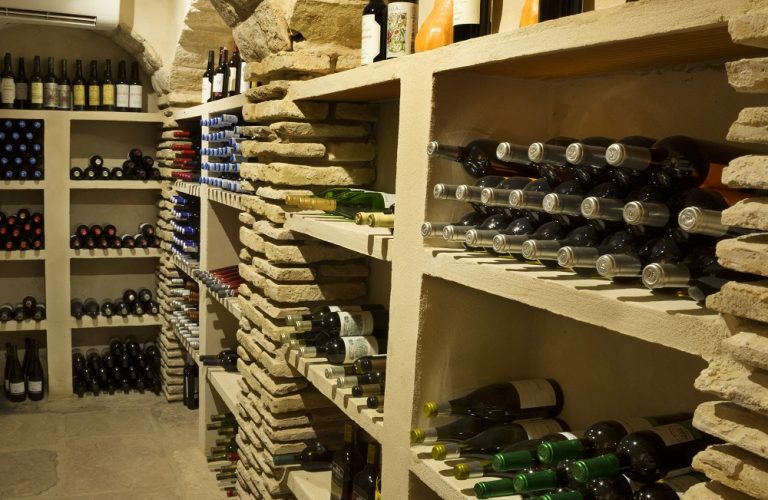 Wine cellar at Casa La Siesta