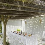 Outdoor dining area at Casa La Siesta