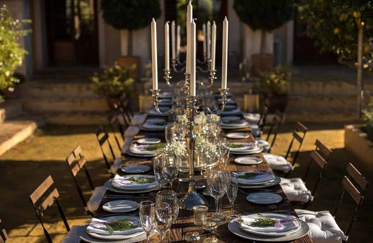 Table settings Wedding at Casa la Siesta