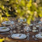 Table setting weddings at Casa la Siesta