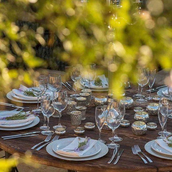 Table setting weddings at Casa la Siesta